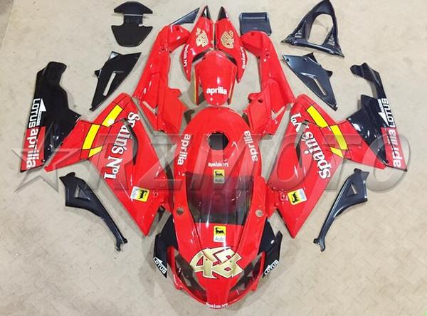Neues ABS Motorrad Vollverkleidungsset Passend für Aprilia RS125 06 07 08 09 10 11 RS 125 2006 2011 Verkleidungsset Karosserie rot