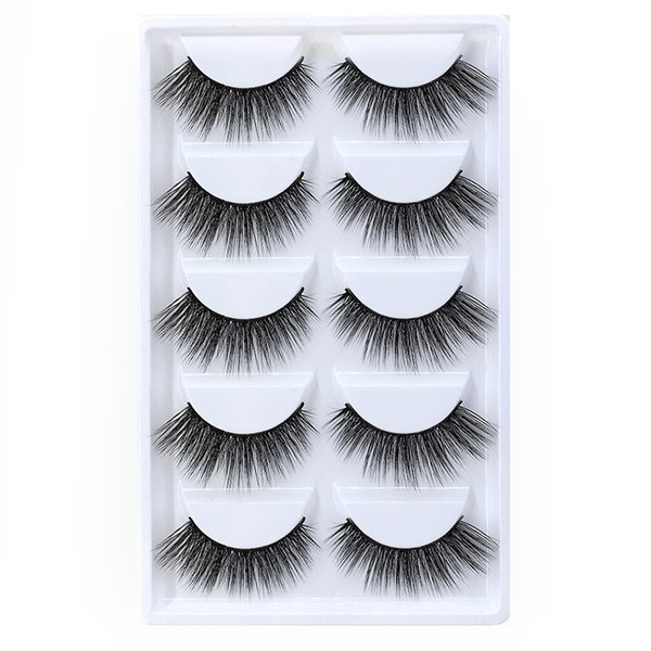 5pairs/set False EyeLashes 5 Pairs 3D Natural Long Fake Eyelashes G803 Handmade Makeup Tools Accessories DHL