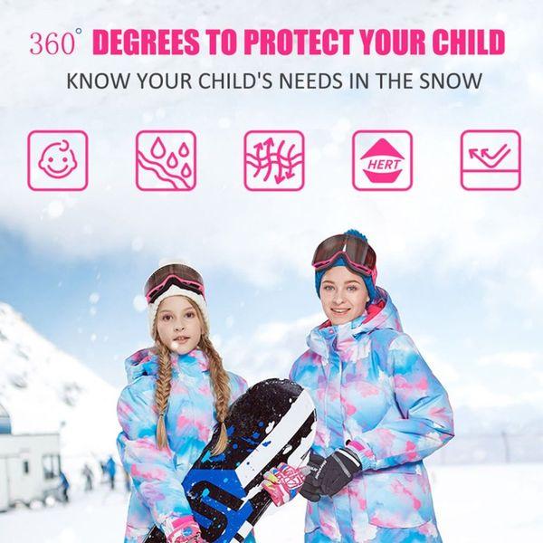 Kids Ski Suit Children Brands Windproof Waterproof Warm Girls And Boy Snow Set Pants Winter Skiing And Snowboarding Jacket Child