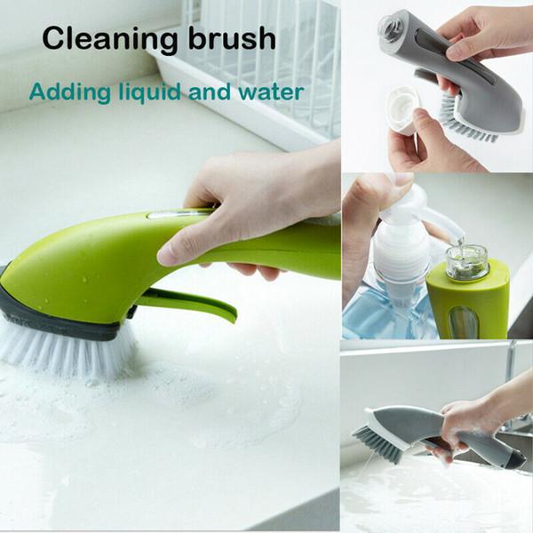 Çok İşlevli Silikon Bulaşık Yıkama Temizleme Fırçası Mutfak Ev Temizleyici Aracı