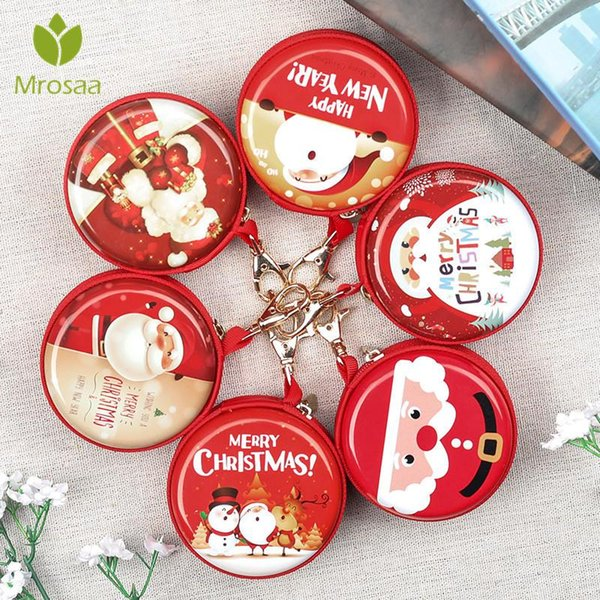Hot Christmas tree decorated ball Kids Gift Holders Wallet Christmas Party Decorations Kid Gift Headphone Holder Bag Key case