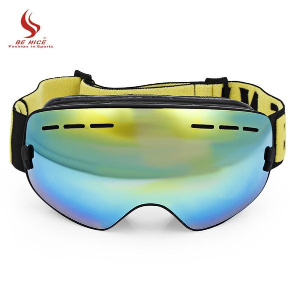 BENICE SNOW-4300 Children Ski Goggles Skiing Eyewear Kids Glasses Snowboarding Skating Goggles UV400 Anti-fog Ski Mask