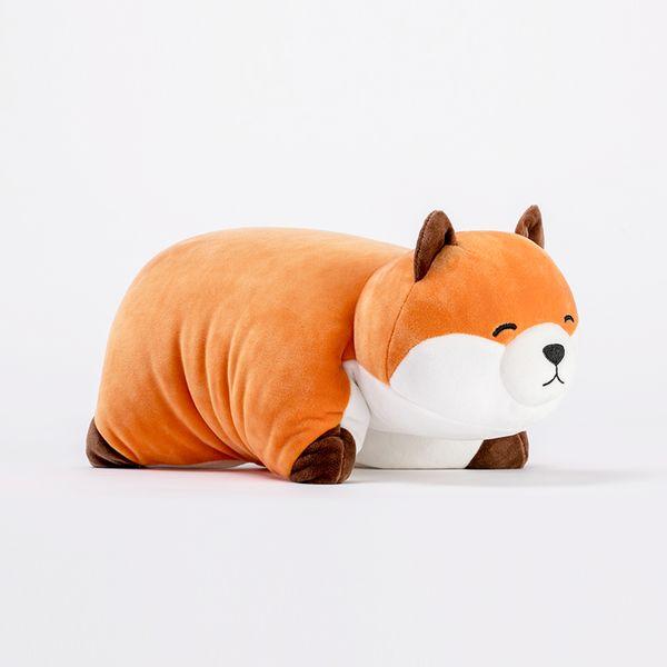Fox multi-purpose pillow folding plush toy custom doll cute birthday gift child doll
