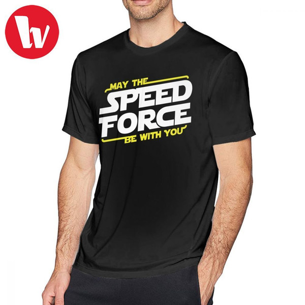 The Killers T Shirt May The Speed Force Be With You T-Shirt Casual Printed Tee Shirt Cotton Men Fun 5x Short-Sleeve Tshirt