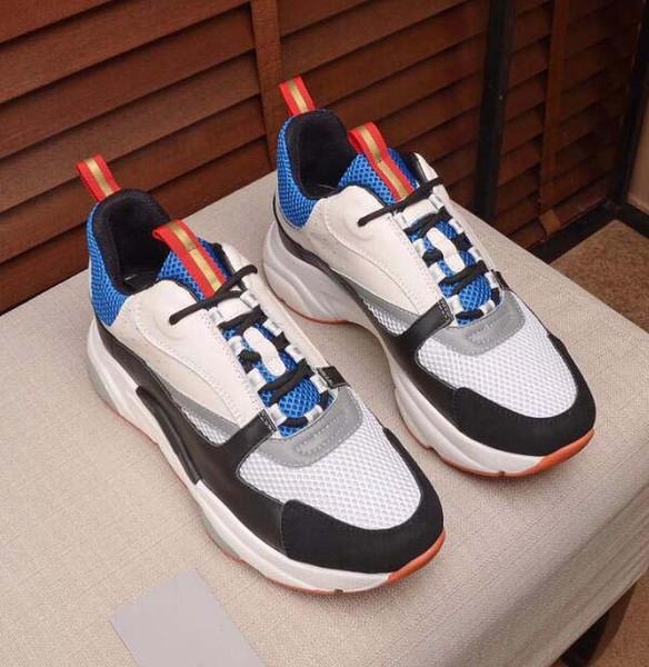 Herren Designer Freizeitschuhe Canvas Mesh und Kalbsleder Trainer Fashion Europa Fashion Sneaker New Sneakers B22 Trainer Technical Knit frg12