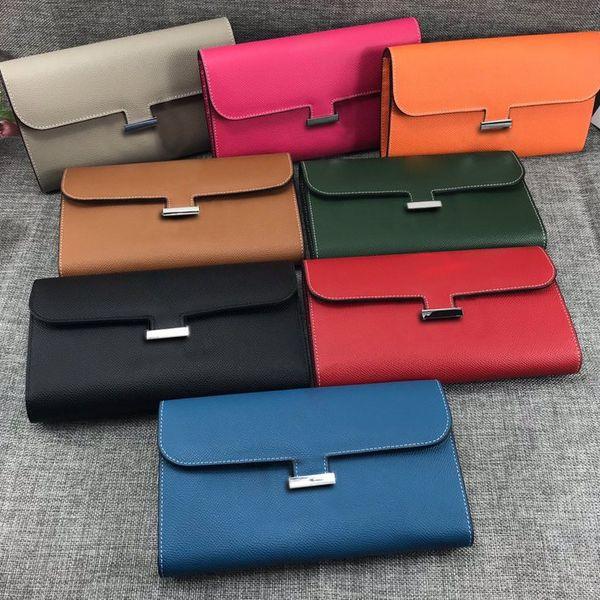 Heiße Marke Brieftasche Frauen Mode Top Qualität Brieftasche aus echtem Leder Geldbörse Weiblichen Geldbeutel Kleine Reißverschluss Münzfach