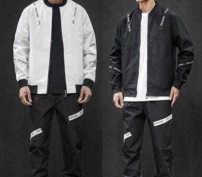 Commercio all'ingrosso Designer Mens Donne Tute Windbreaker Giacche Pantaloni Tute Via marca Kit Sport Outfit attivi in esecuzione casuale 2019 LJJ98315