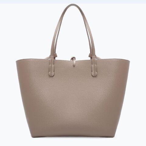 Wholesale-Nice Reversible ZA Bag Women Handbag Leather Large Tote High Quality PU Leather Shopping Shoulder Bags Casual Bolsas Femininas