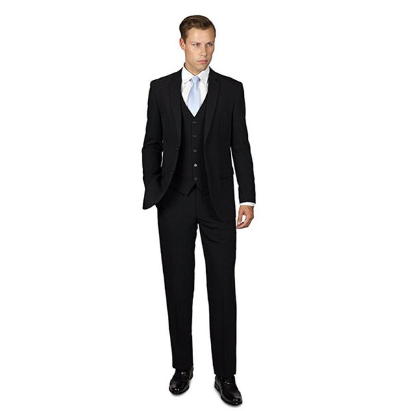 Custom Made Men's Three Piece Two Button Groom Groomsmen Suit Formal Best Man Business Tuxedos Men Suits (Jacket+Pants) F348