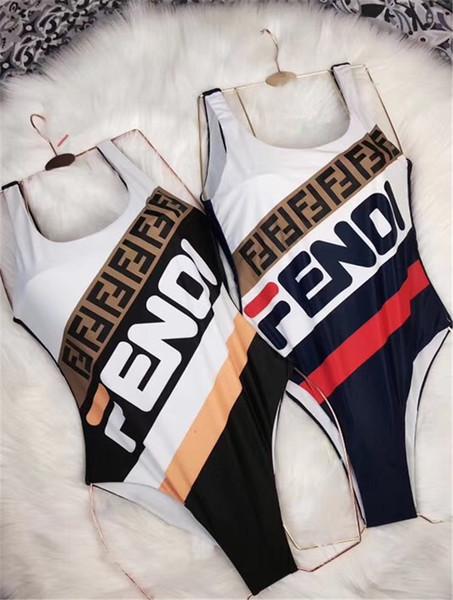 Fashion Luxury Designer Women Beach F Letter One Set Bikini Underwear Swimwear Women Swimsuit Sexy Bathing Suits Sexy One-piece Swimsuits