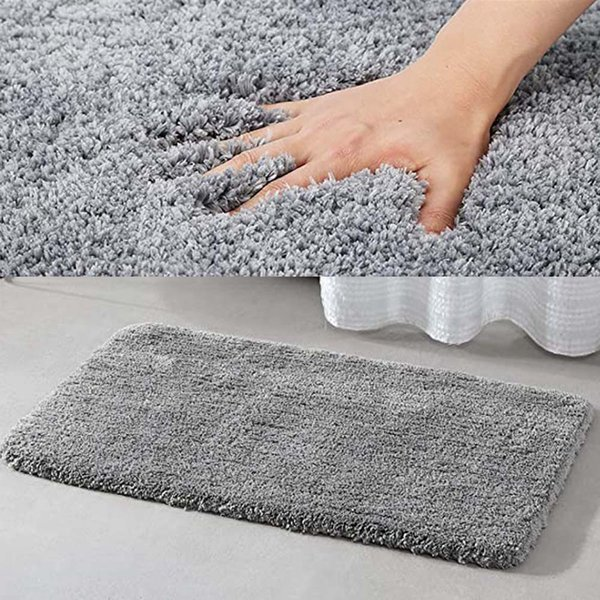 Bath Mat Bathroom Carpets Super Absorbent Bathroom Carpets Rugs Soft Cotton Fiber For Shower Room Toilet Bathroom Mat