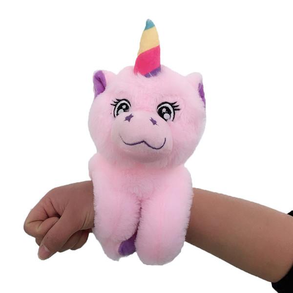 Unicorn Arm Huggers Stuffed Animal Kids Toy Slap Bracelet Puppy Monkey Plush Toys soft Squishy gifts for kids baby wrist band