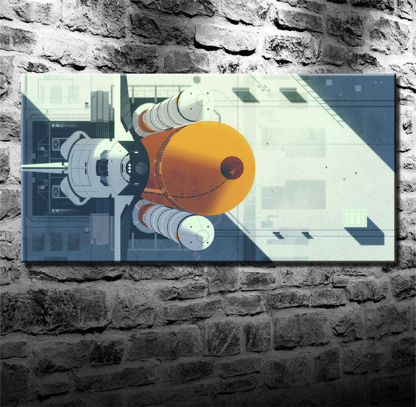 kevin dart space shuttle,HD Canvas Printing New Home Decoration Art Painting/(Unframed/Framed)