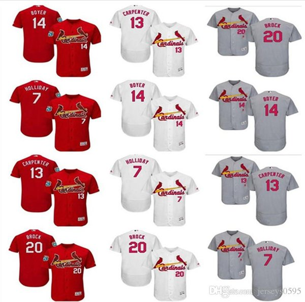 brand new 5cc60 8a7d6 2019 Custom Men'S Women Youth St. Louis Cardinals Jersey #13 Matt Carpenter  7 Matt Holliday 20 Lou Brock 14 Ken Boyer Home Kids Baseball Jer From ...