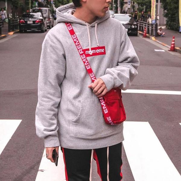 SS18 44th Box Logo Shoulder Bag Red Side Sling Cross Body Bag Nylon Woven Centered Bottom