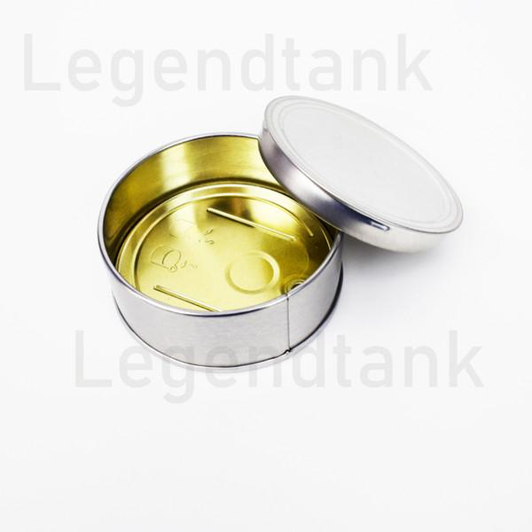 bottiglie cera olio DAB Concentrato sigillato Wax contenitori di alluminio del metallo Tin Can mano confezione box penna vape