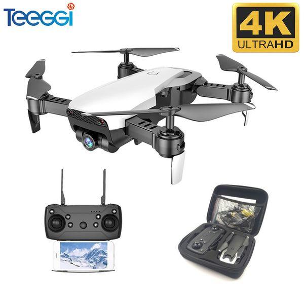 top popular Teeggi M69G FPV 4K With 1080P Wide-angle WiFi HD Camera Foldable RC Drone Mini Quadcopter Helicopter VS VISUO XS809HW E58 M69 2021