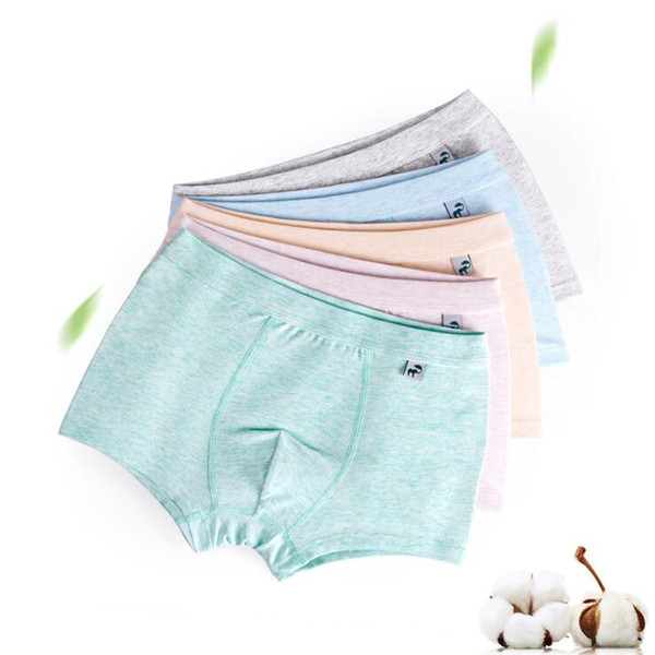 6Pcs Lot Boys color yard Children's Fashion underwear Boy's flat panties kids underpants Suitable for 2 to 14 year old boys S19JS039