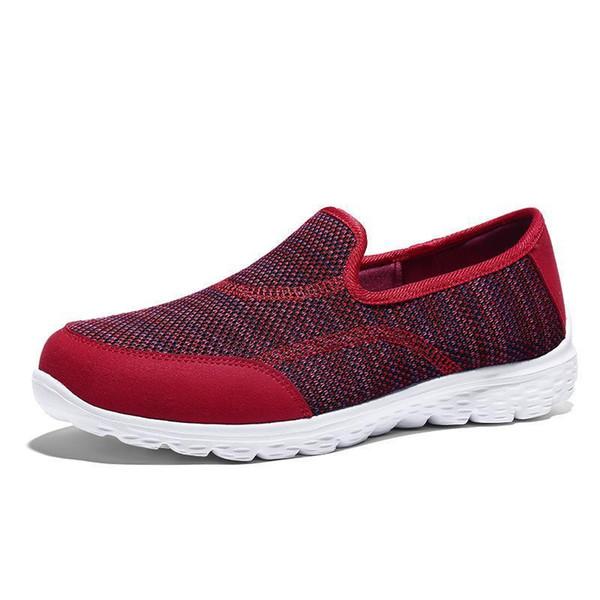 Women Shoes Sneaker Casual Platform Flats Shoes Girls Lady Air Mesh Summer Footwear 25-52 Loafers Flats Women