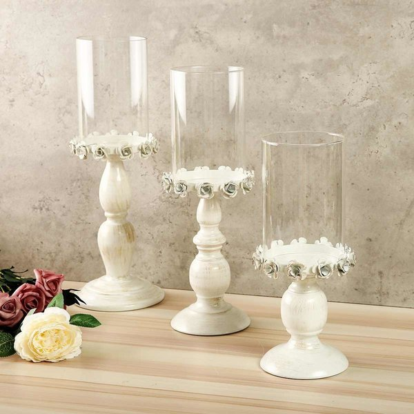 White Hollow Candle Holder Candlestick Tealight Hanging Lantern Vintage Candle Stand Wedding Gift Home Decoration Y19061804