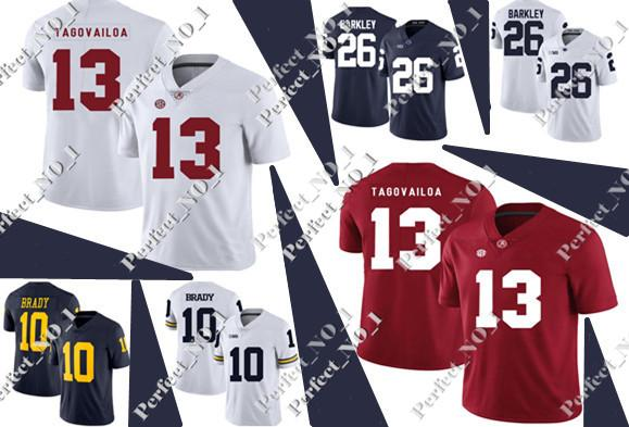 1d472b80f Men s NCAA Alabama Crimson Tide 13 Tua Tagovailoa Jersey College Football  jerseys Hot Sale Red White Stitched Jerseys S-3XL