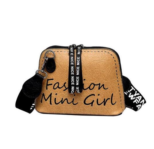 Wide Strap Wild Zipper Handbag Woman Tide Shell Crossbody Bags Summer Lady Purse