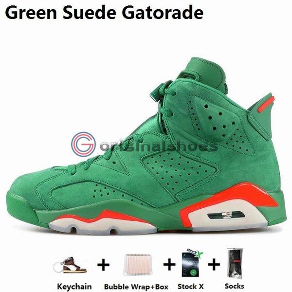 6S-Green Suede Gatorade
