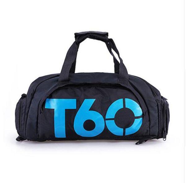 Comercio al por mayor a estrenar hombres deporte bolsa de gimnasio de las mujeres de fitness al aire libre impermeable espacio separado para los zapatos bolsa mochila ocultar mochila sac