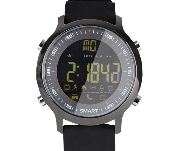 Smart Sport Bracelet Outdoor Gentleman Sport Step Pedometer Watch Bluetooth 50 Meters Waterproof 1.2 Inch FSTN LCD Display Smart Digital Wat