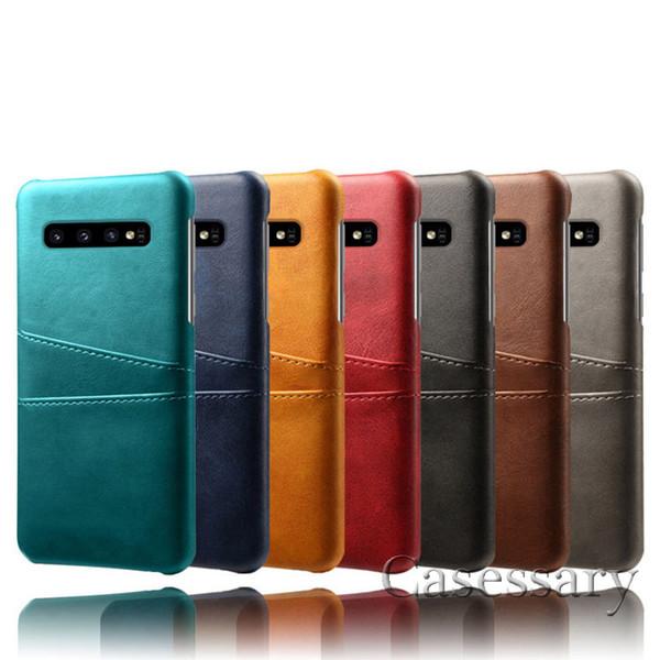 Casos de couro Premium Carteira Com Slots De Cartão Para iPhone XR XS MAX Samsung S10E S10 Mais J5 Pro Oppo LG Huawei Companheiro 20