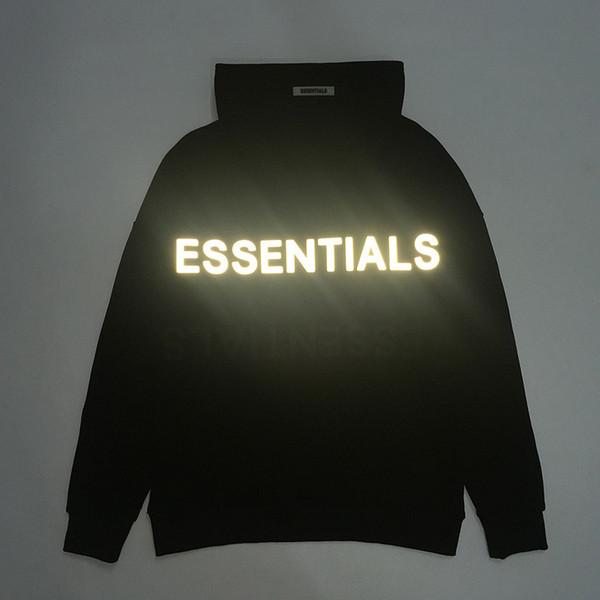 Tanrı Yansıtıcı Hoodie Erkekler Streetwear Siyah Kapüşonlular SİS Essentials Kazak Hip Hop Kaykay Kazak TNI0912 Of Fear