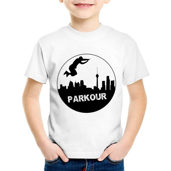 Children Fashion Print Parkour Hipster T-shirts Kids Hip Hop Cool Summer Tees Casual Tops Baby Clothes For Boys/Girls,HKP768