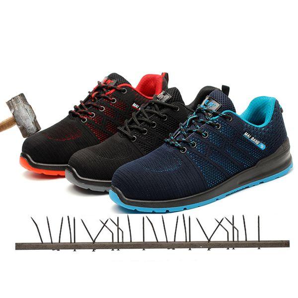 Zapatos de seguridad de moda puntera de acero anti-rompe zapatos de protección anti-perforación botas de seguridad de trabajo