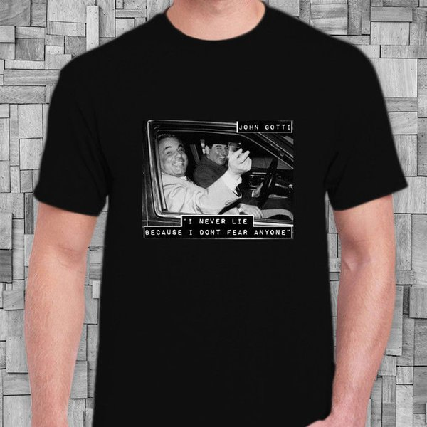 John Gotti Gangster Quotes Men\'S T Shirts Black Buy Shirt Designs Funny  Clever T Shirts From Boystshirts55, $12.7| DHgate.Com