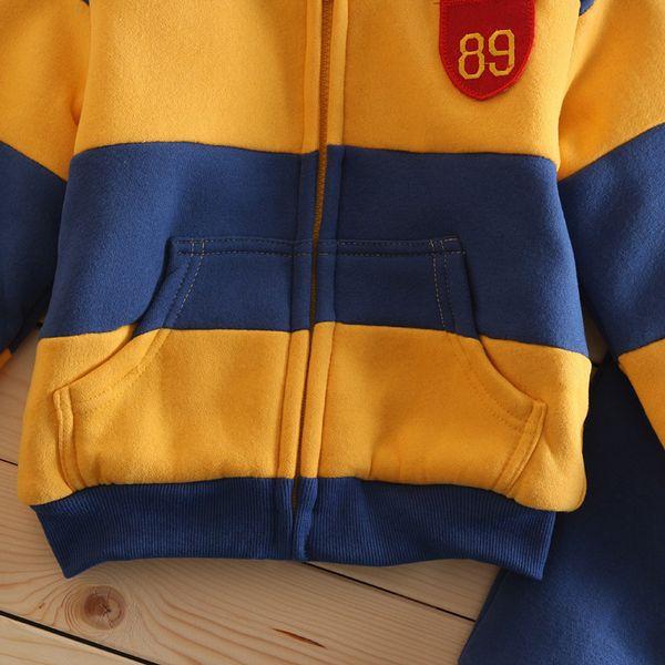 Boys Girls Children Hoodies Winter velvet Sherpa Baby Sports Suit New 2018 Jacket Sweater Coat & Pants Thicken Kids Clothes Sets