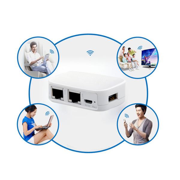 Küçük 300 M Taşınabilir Mini Router 802.11 b / g / n AP Tekrarlayıcı İstemci Köprüsü Wifi Kablosuz Yönlendirici Desteği USB Flash Sürücü