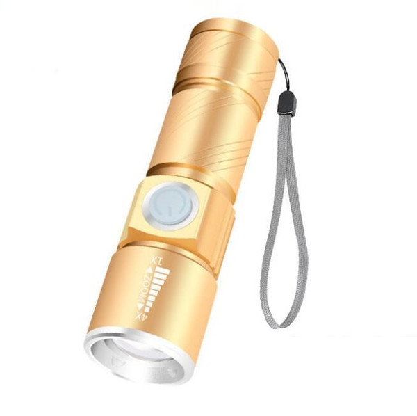 Zumlanabilir led Q5 Fener meşale açık Flaş Işık yürüyüş kamp taşınabilir mini Lamba USB şarj fenerleri meşaleler 18650 pil dahil