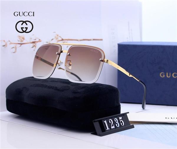 Luxus-Sonnenbrille Hot-Top-Stil Sonnenbrille für Männer und Frauen Sommer Marke Glas UV400 mit Box und Markenlogo versandkostenfrei