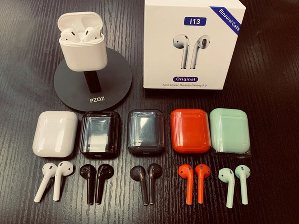 i13 TWS Touch Wireless Bluetooth 5.0 Headphones Binaural call i9S i10 tws True Stereo Wireless Earbuds Earphones Auto Power on Auto Pairing