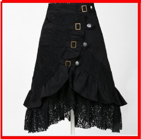 2019 new female Fashion Skirt Women Skirt Sexy Black lace punk rock gothic skirtdress with corset