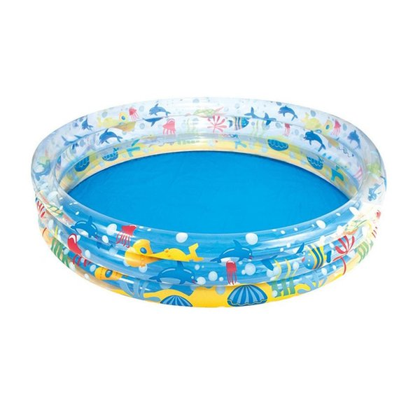 152x30CM Kids Inflatable Swimming Pool Marine Ball Pool Hard Rubber Round Infant Tub Suitable For 2-3 Children