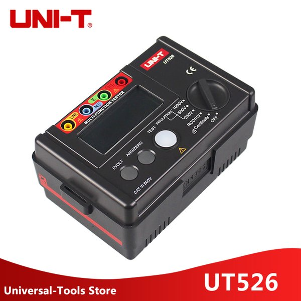 Uni-t Ut526 Multi-function Digital Electric Meter Electrical Insulation Tester Ut526 Earth Resistance Meter+rcd Test Machine T8190619