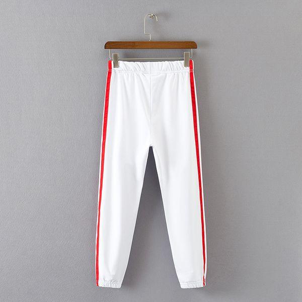 Yaz 2018 Baggy Kadınlar Harem Pantolon Rahat Yüksek Bel Sweatpants Harajuku Beyaz Pantolon