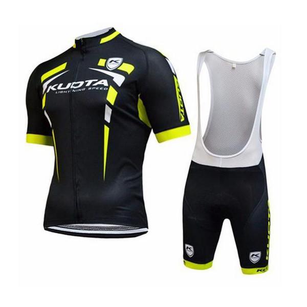 Yeni Takım Kuota Yaz Erkekler Kısa Kollu Siyah Bisiklet Jersey Dağ Bisikleti Gömlek Hızlı Kuru Mtb Bisiklet Bisiklet Giyim Ropa Ciclismo C2911