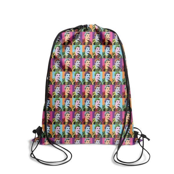 Freddie Mercury ColorfulFashion sports belt backpack, design pop personalized reusable string package, suitable for school