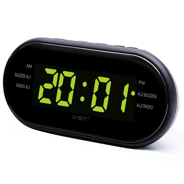 LED Digital Alarm Clock AM/FM Radio with Dual Alarms Sleep & Snooze Function Outlet Powered Big Digit Display for Bedroom