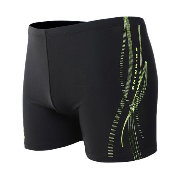 Men's Printing Sexy Nylon Breathable Built-In Beam Line Briefs Swimming Trunks Elastic Printed Beach Shorts Men Board Shorts