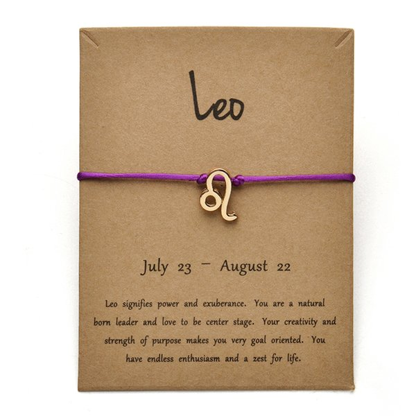 Tarjeta oro púrpura Leo-Gold