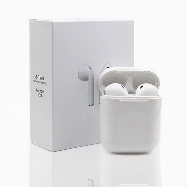 Hot Sale I7S TWS Twins Bluetooth Headphones with Charger Box Wireless Earbuds Headset for IOS Iphone X Android Samsung With Retail Package