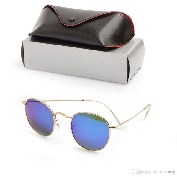 bec8da946a Brand New Mens Round Sun glasses Gafas de diseñador de la marca Lentes de vidrio  Para